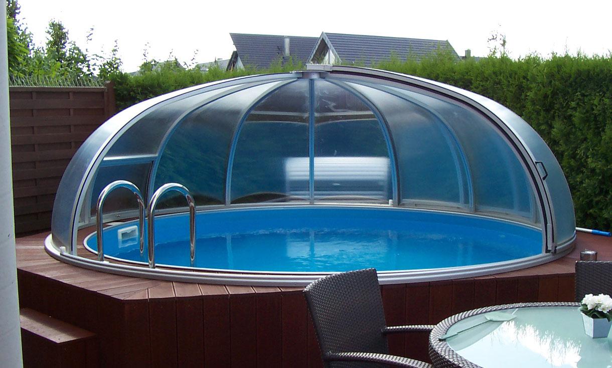 rund schwimmbad berdachung eine rundes schwimmbaddach schwimmbad berdachungen. Black Bedroom Furniture Sets. Home Design Ideas